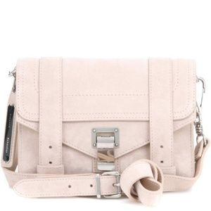 Proenza Schouler PS1 Mini Crossbody Suede Beige